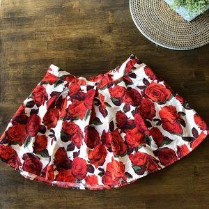 Rose Printed Skirt